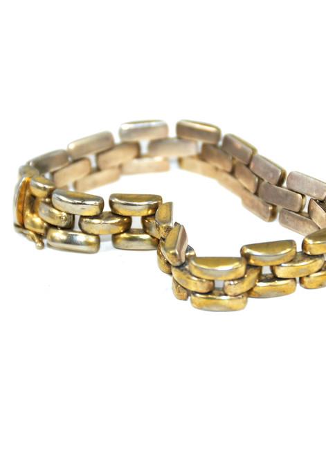 Sterling Silver Brick Link Bracelet