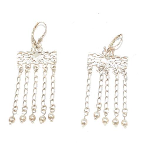 Sterling Chain Dangling Earrings