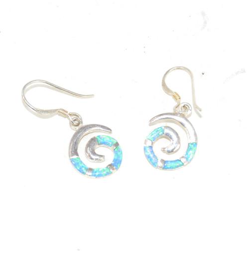Sterling Blue Swirl Earrings