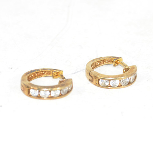 Sterling Plated Cubic Zirconia Earrings