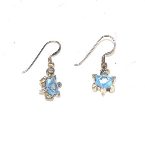 Sterling Blue Star Earrings