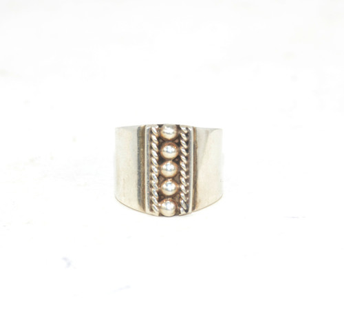 Sterling Silver Mexican Cuff Ring