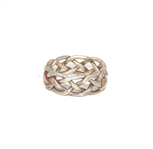Sterling Silver Braided Eternity Ring
