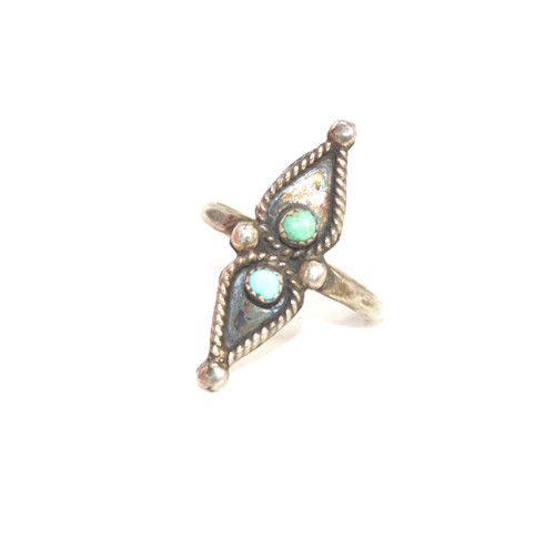Sterling Silver Southwest Turquoise Pear Ring