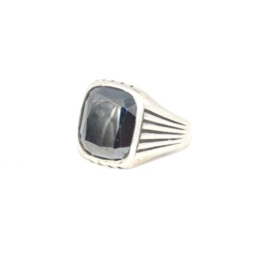 Sterling Silver Bell Trading Post Hematite Signet Ring