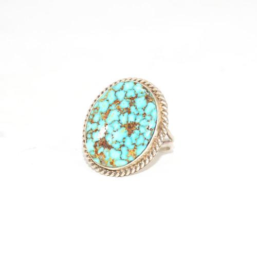 Sterling Silver Navajo Turquoise Split Shank Ring