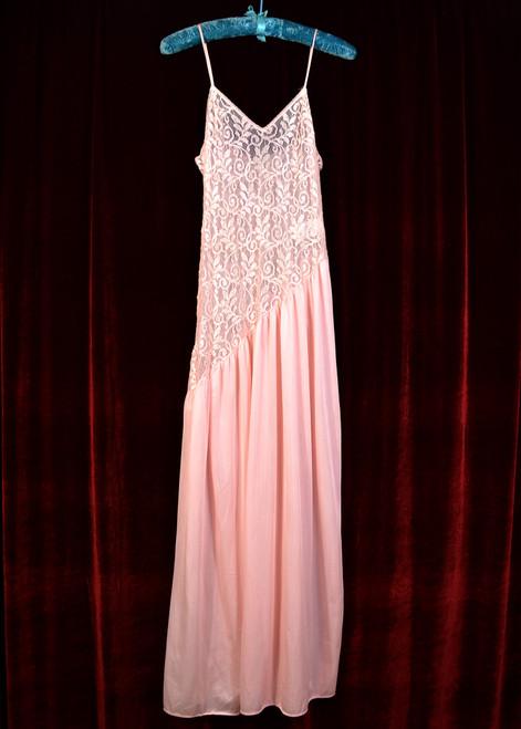 Asymmetrical Lace Top Slip Dress