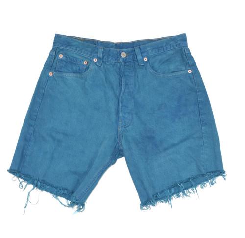 Levis 501 Blue Shorts
