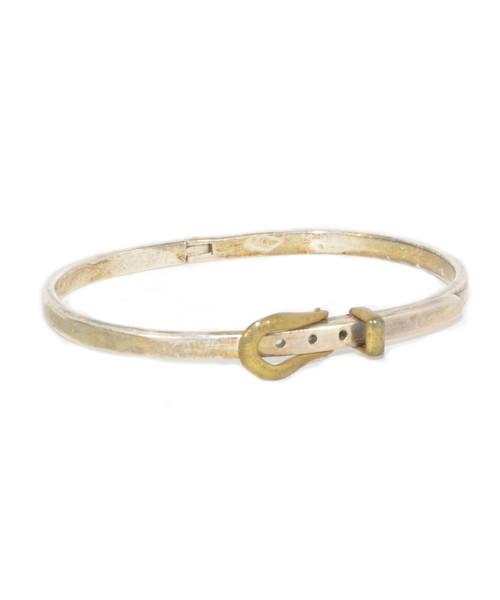 Sterling Silver Mini Belt Buckle Bracelet