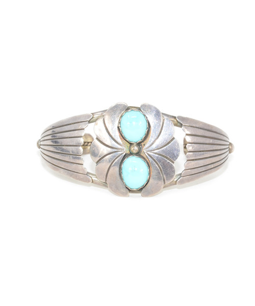 Sterling Silver Southwestern Turquoise Wing Cuff