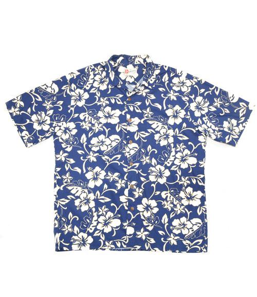 Hilo Hattie Blue Hawaiian Shirt