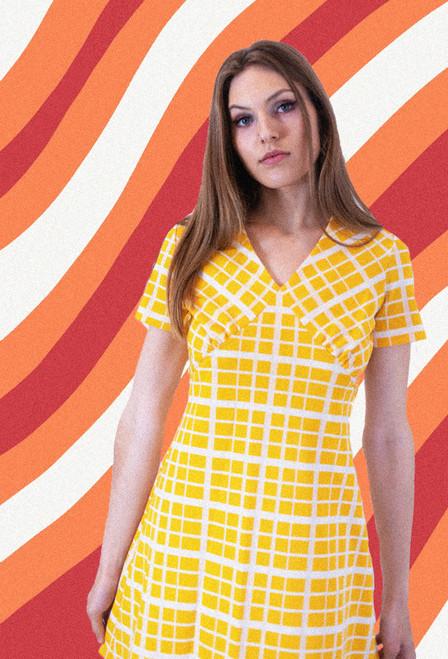 1970's Yellow Gingham SunDress