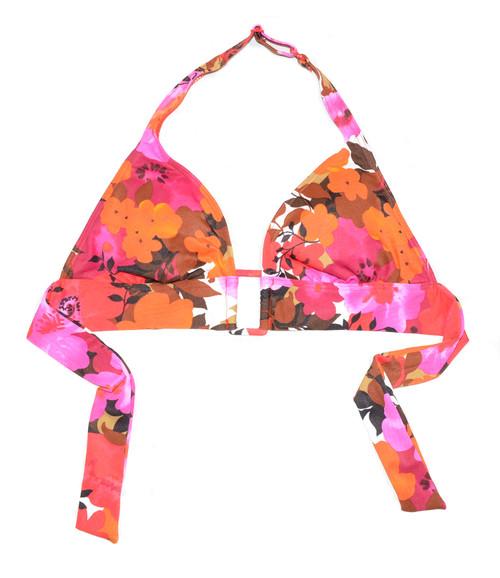 Floral Halter Swim Top