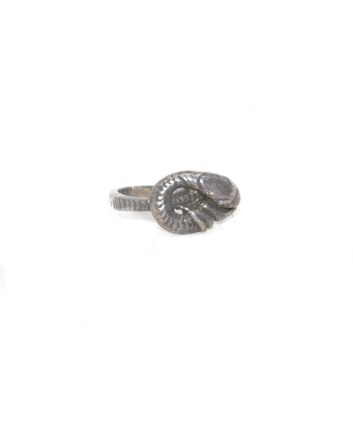 Sterling Silver Resting Serpent Ring
