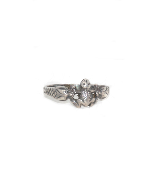 Sterling Silver Frog and Snake Ring