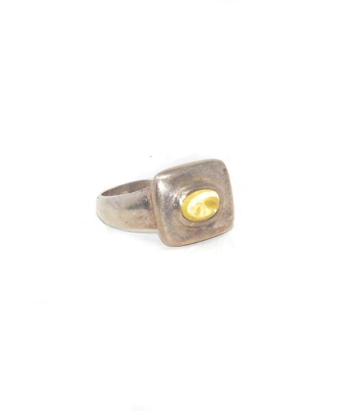 Sterling Silver Soft Geometric Sphene Ring