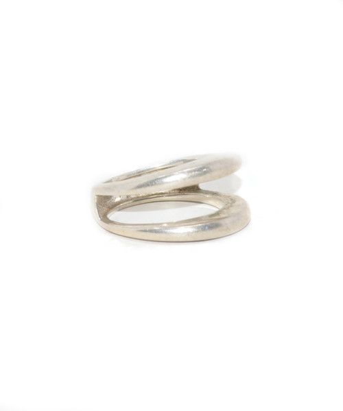 Sterling Silver Minimalist Double Band Ring