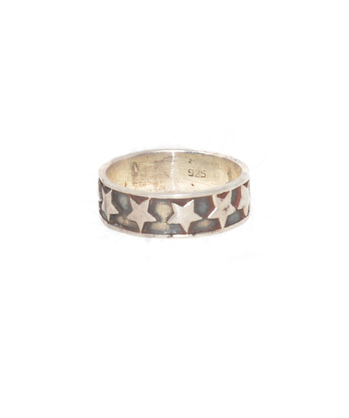Sterling Silver Star Band Ring