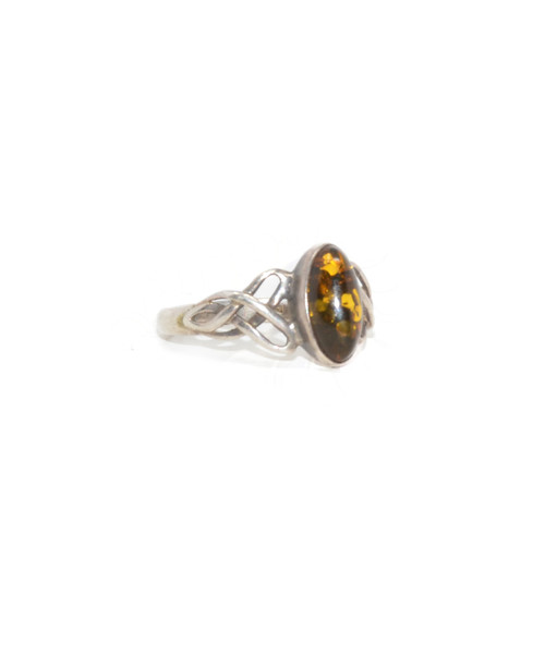 Sterling Silver Celctic Knot Marquise Cabochon Ring