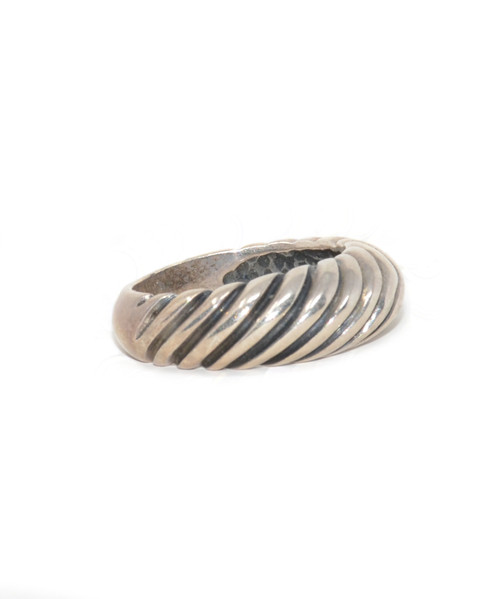 Sterling Silver Concentric Italian Rope Ring