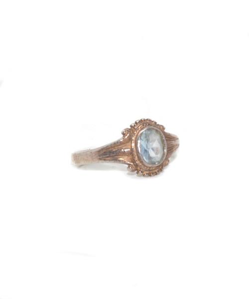 Vintage Sterling Silver Aquamarine Frame Ring