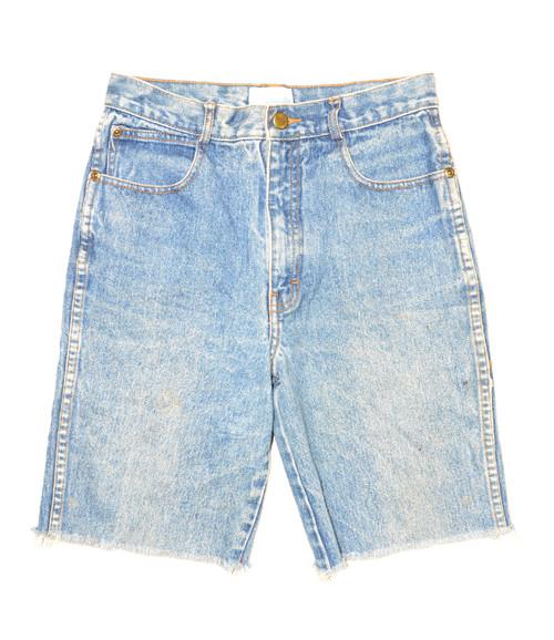 "C.P. & Company Long Cutoff Denim Shorts 26"""