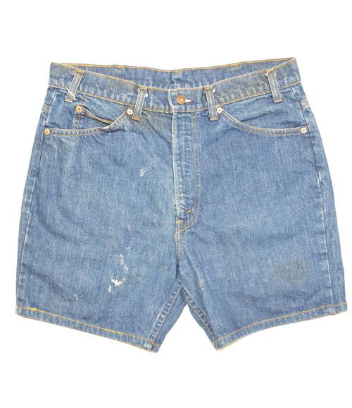 "Made in USA Levis Orange Tab Denim Shorts 34"""