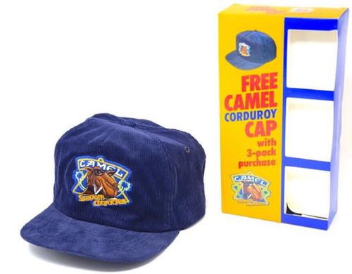 Deadstock Promotional Camel Cigarette Corduroy Snapback Hat  w/ Box
