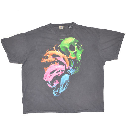 Liquid Blue Skull Tshirt