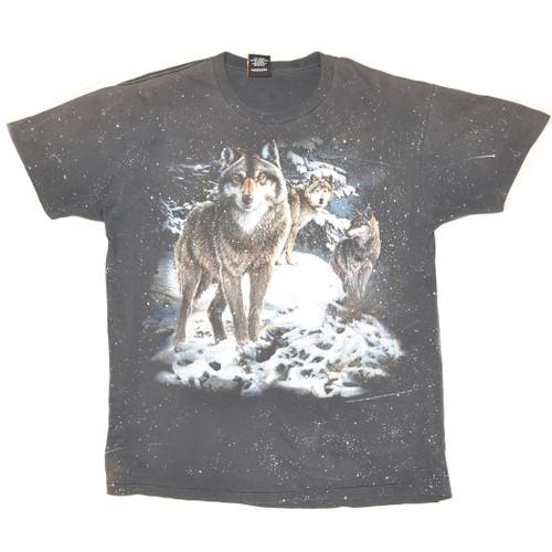 3D Emblem 1995 Sturgis Single Stitch Wolf Tee