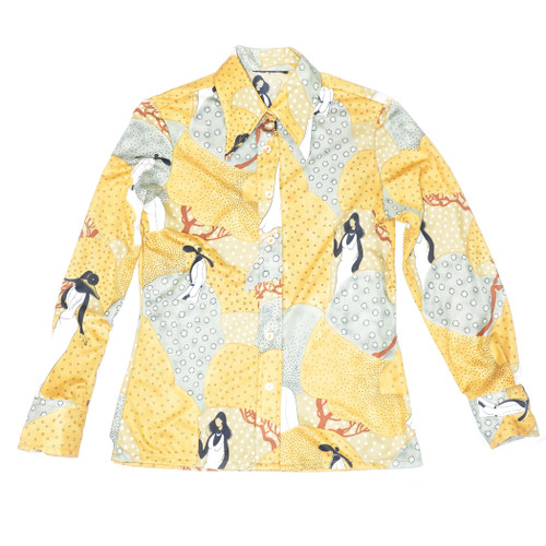 Printed Button Up Blouse