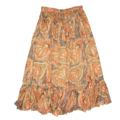 Sheer Paisley Maxi Skirt