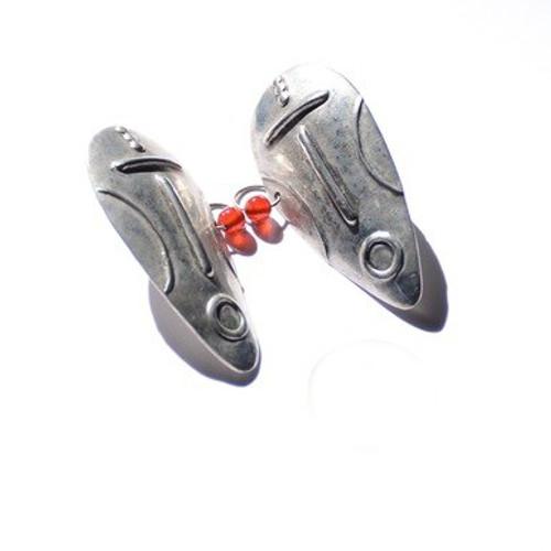 Sterling Shield Earrings
