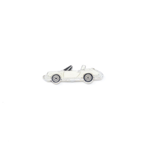Classic White Porsche Carrera Pin