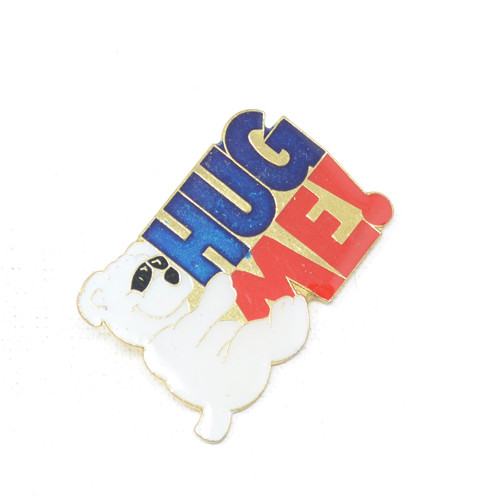 HUG ME Cool Bear Pin