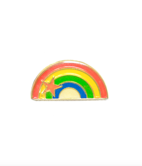 Vintage little rainbow enamel pin