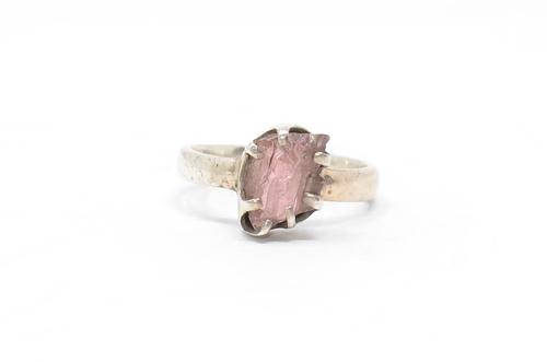 Sterling Pink Tourmaline Ring