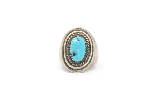 Sterling Navajo Freeform Turquoise Ring