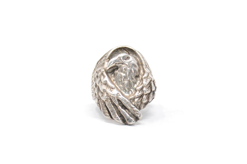 Sterling Eagle Statement Ring