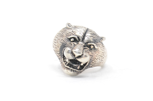 Sterling Cougar Ring