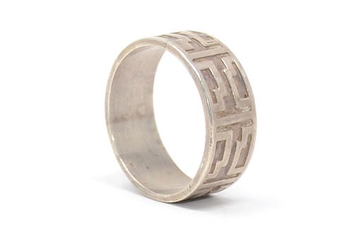 Sterling Geometric Band Ring