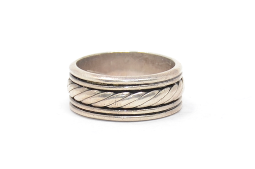 Sterling Mexico Rope Detail Band Ring