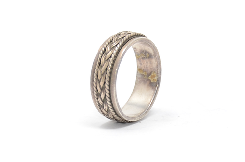 Sterling Rotating Braided Band Ring