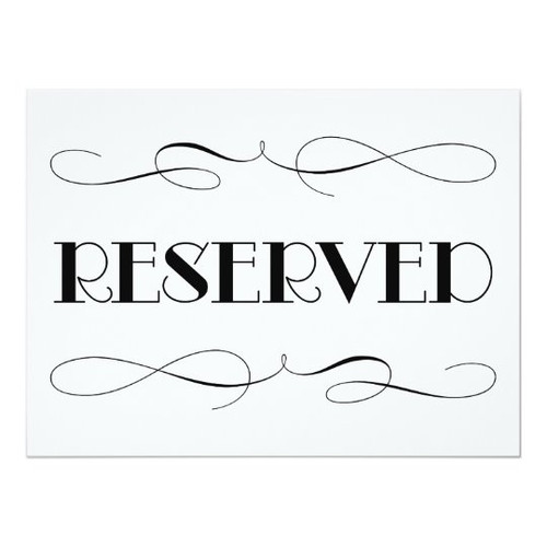 $30 Reserved Listing