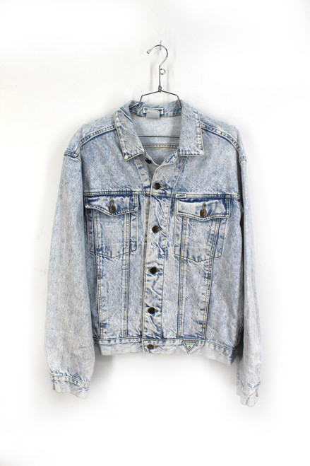 Guess Acid Wash Denim Jacket. Made In USA. Medium. Size 38