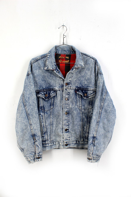 Levis Buffalo Plaid Liner Denim Jacket | 42 L