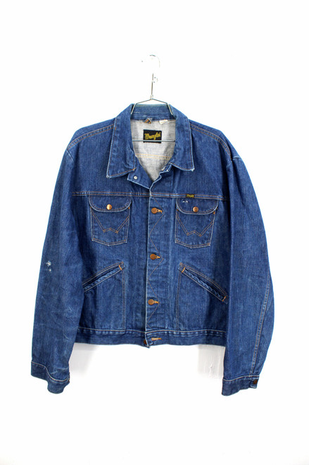 Wrangler USA Made Size 50 Dark Wash Denim Jacket