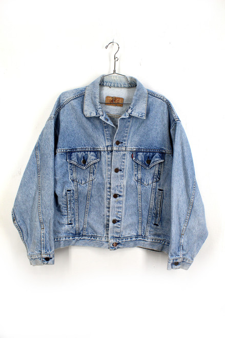 Levis Made in USA Light Wash Denim Jacket