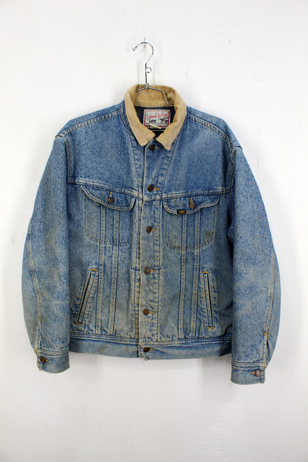Lee Storm Rider Blanket Liner Light Wash Denim Jacket | Size M
