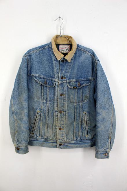 Lee Storm Rider Blanket Liner Light Wash Denim Jacket | Size M